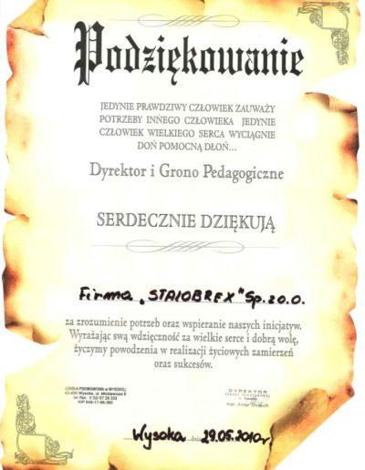 podziekowanie-sp-wysoka-2010