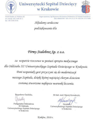 podziekowanie-usd-krakow-2010